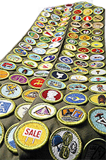 merit badge sash